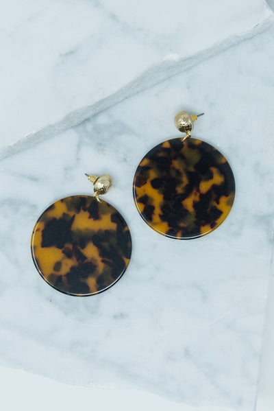 Living Wild Earrings, Tortoise