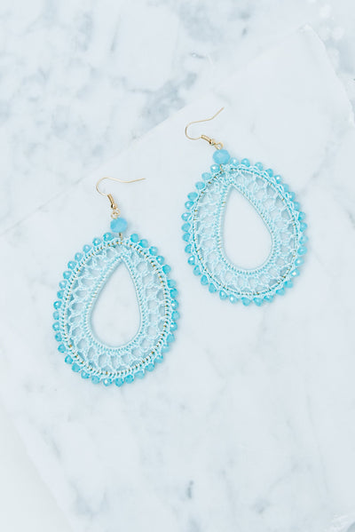 Crafty Creations Earrings, Light Blue