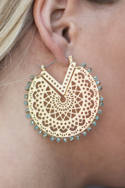 Be The Best Earrings, Blue