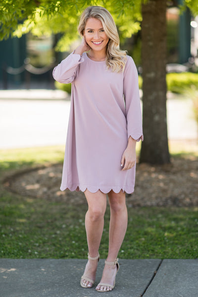 Your Future Is Bright Dress, Mauve