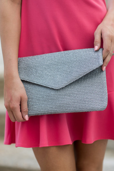Beach Party Clutch, Gray