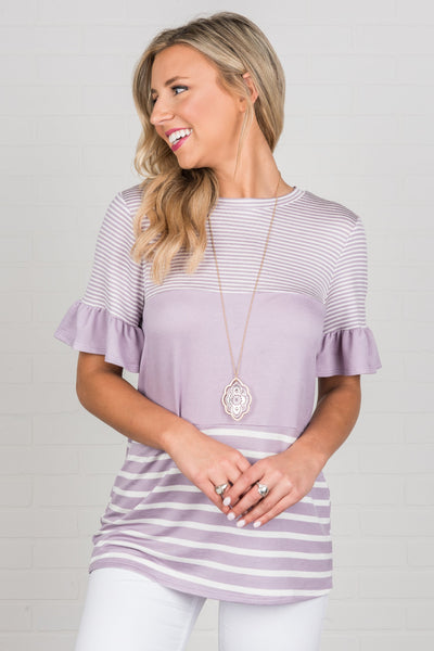 Face A New Day Top, Orchid