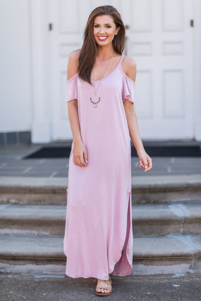 Close To Your Heart Maxi Dress, Mauve