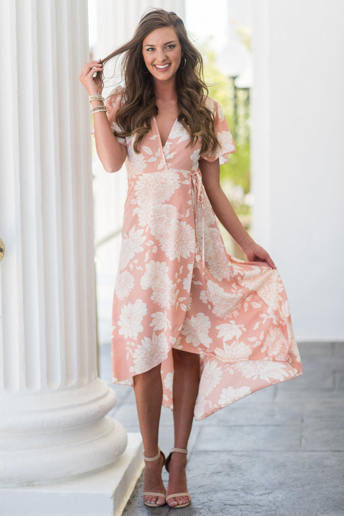 Garden Walk Maxi Dress, Blush