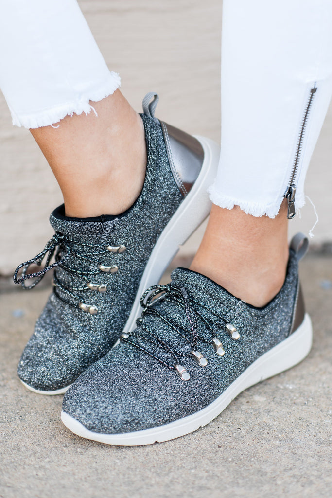 Cute For The Day Sneakers, Pewter