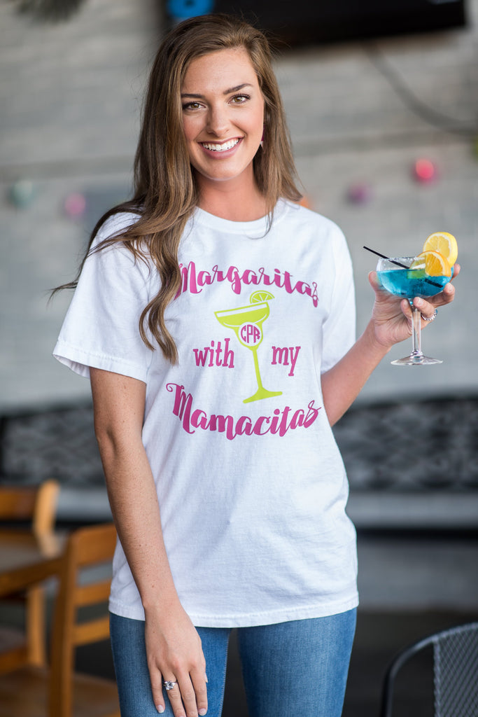 Comfort Colors: Margaritas With My Mamacitas T-Shirt, White