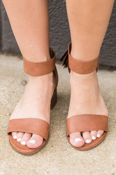 All The Love Heeled Sandals, Tan