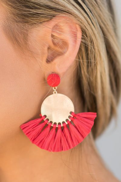 New To Nassau Earrings, Red