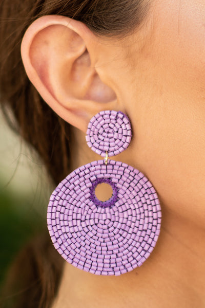 Believe In The Beauty Earrings, Lavender