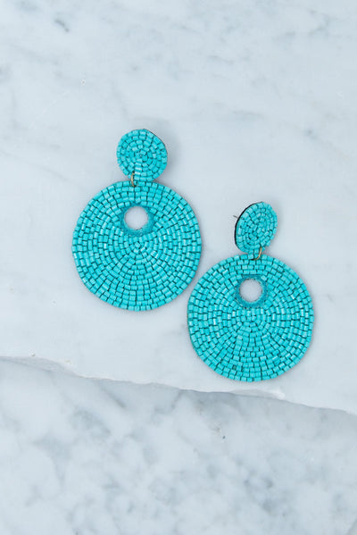 Believe In The Beauty Earrings, Turquoise