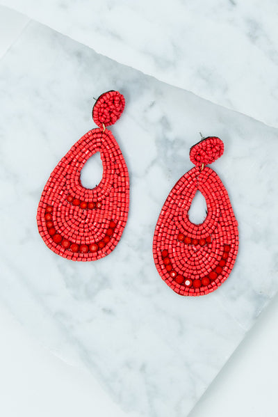 Something To Believe In Earrings, Red