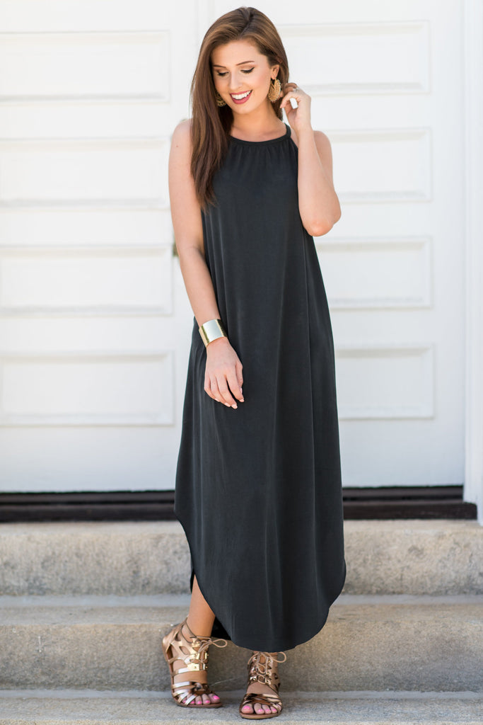Boldly Go Maxi Dress, Black