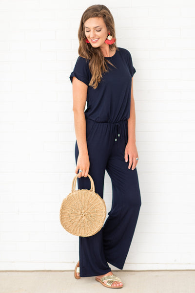 The Look Of Love Jumpsuit, Navy