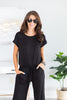 The Look Of Love Black Elastic Waist Jumpsuit