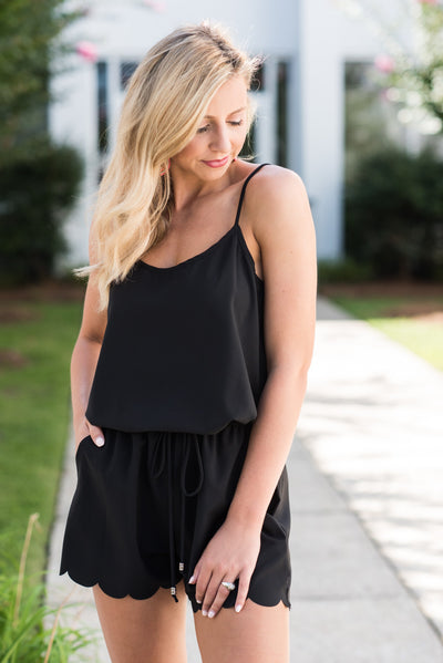 Feeling So Free Romper, Black