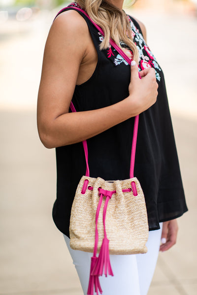Ready For Anything Purse, Fuchsia