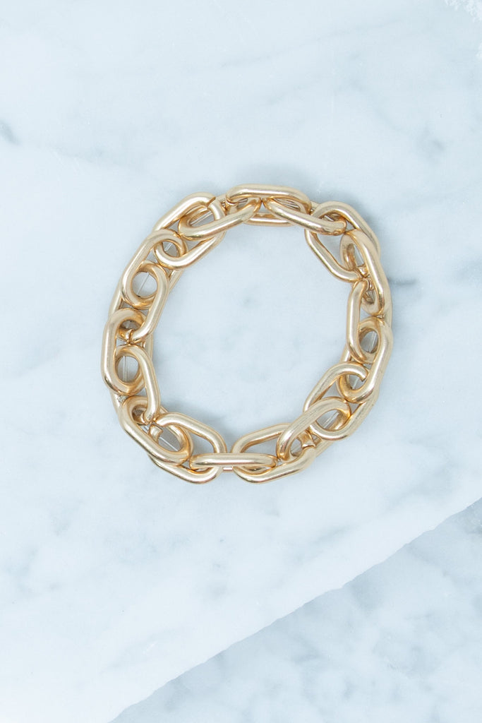 Let's Link Up Bracelet, Gold