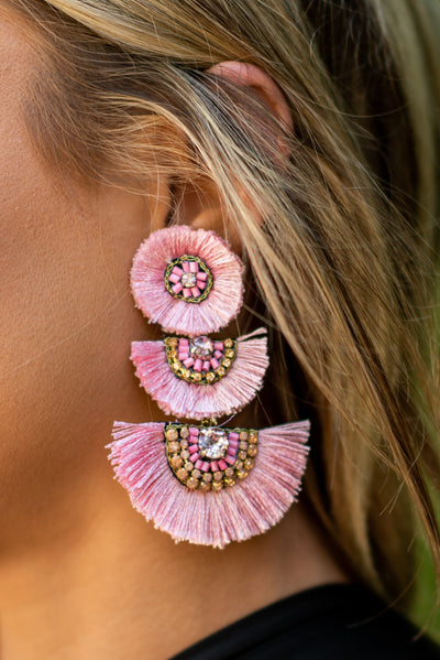 Known Beauty Earrings, Pink