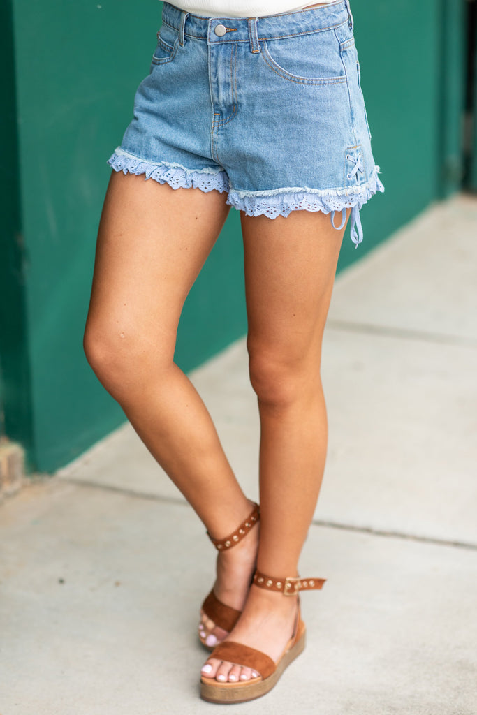 A Day In The Park Shorts, Denim