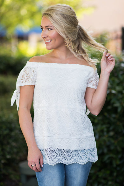 The Rise Of Romance Top, White