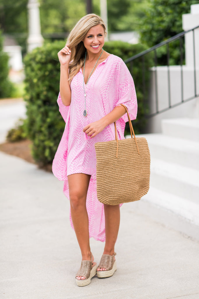 Buddy Love: A Day By The Pool Kaftan, Pink