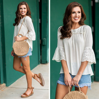 Always A Beauty Blouse, Cream