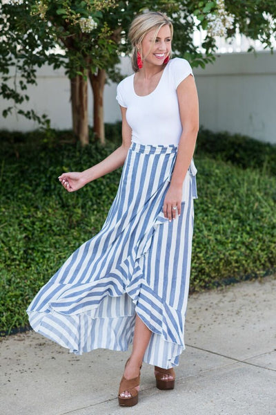 Hold On To Happy Maxi Skirt, Navy