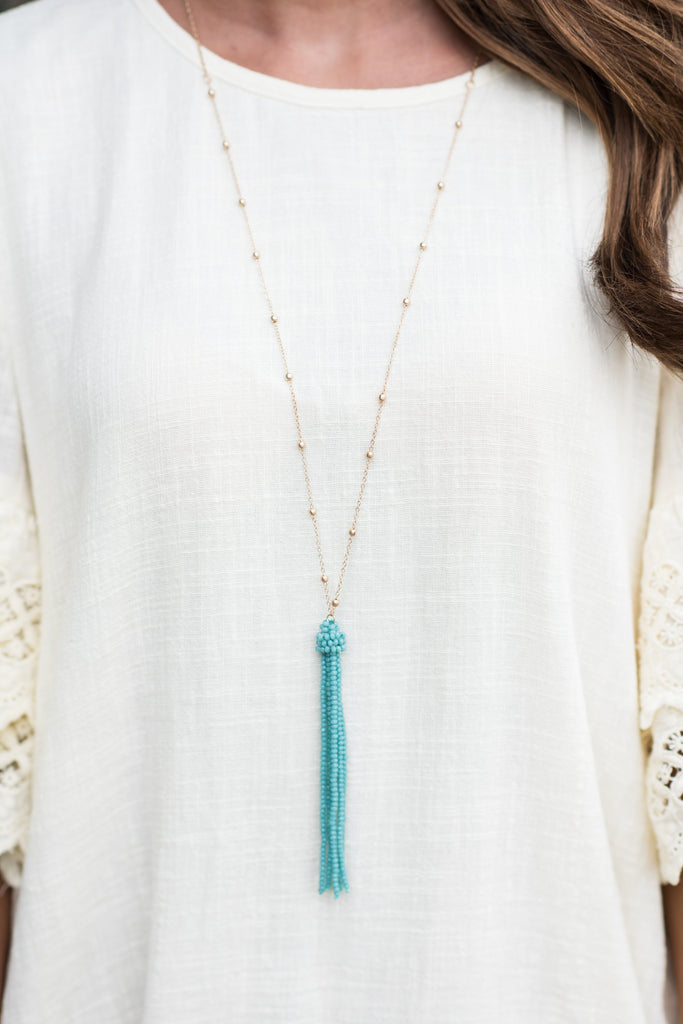 Love You Most Necklace, Turquoise