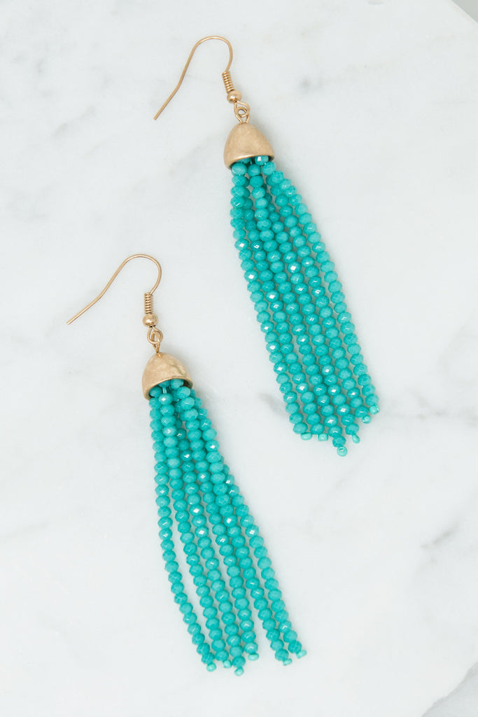 In Your Heart Earrings, Turquoise