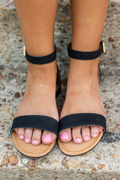 Ready For Anything Sandals, Black