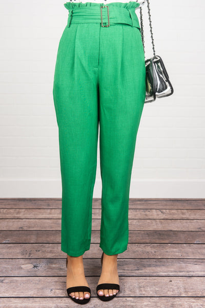 Step Into My Office Pants, Kelly Green