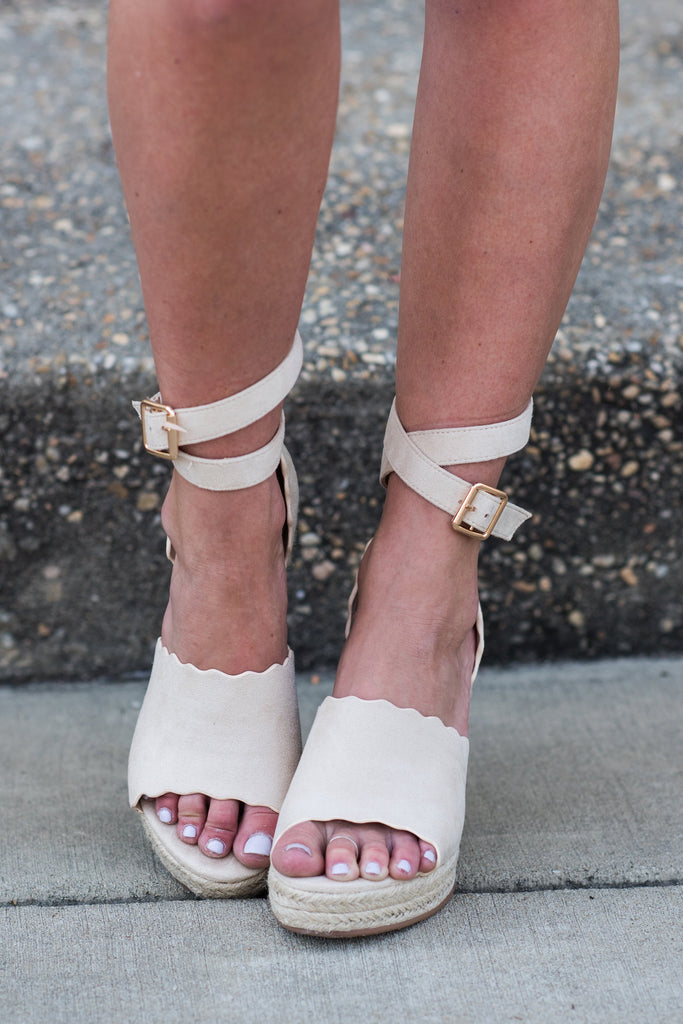True Happiness Wedges, Nude