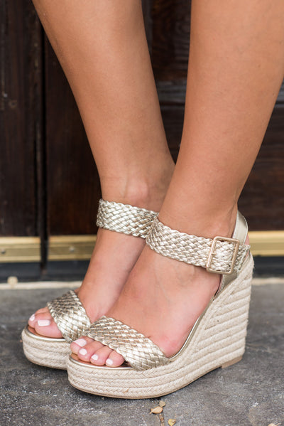 Tell You The Truth Wedges, Gold