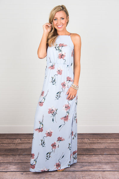 Born To Be Beautiful Maxi Dress, Blue