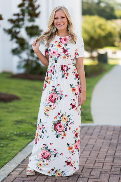 Be Your Beautiful Self Maxi Dress, White