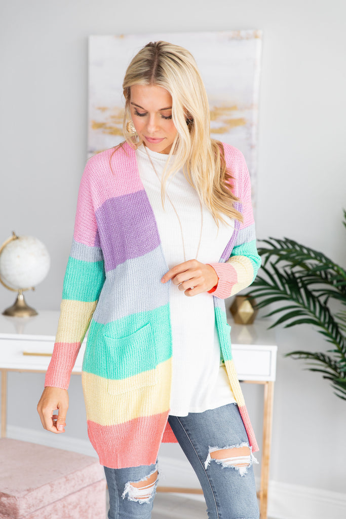 Happy And Bright Cardigan, Multi