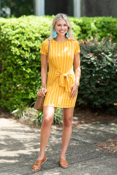 Discover Your Dreams Dress, Mustard