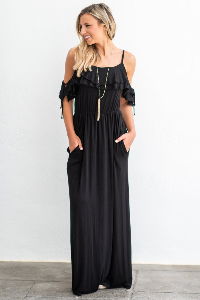 Listen To Your Heart Maxi Dress, Black
