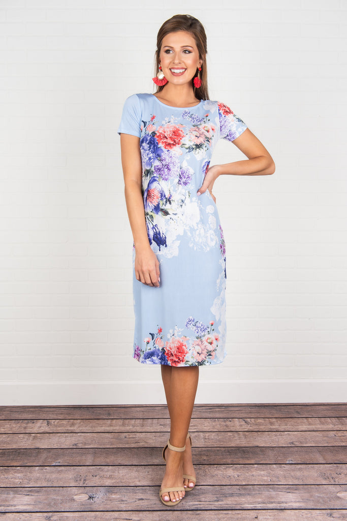 Meet You For Luncheon Midi Dress, Aqua