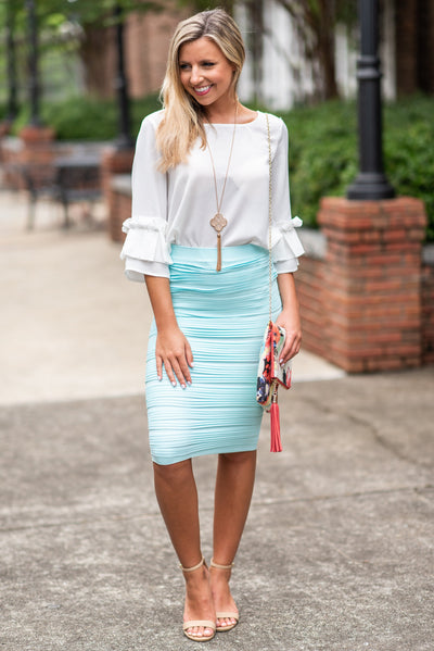 On Your Level Skirt, Light Mint