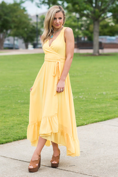 Summer Radiance Maxi Dress, Yellow