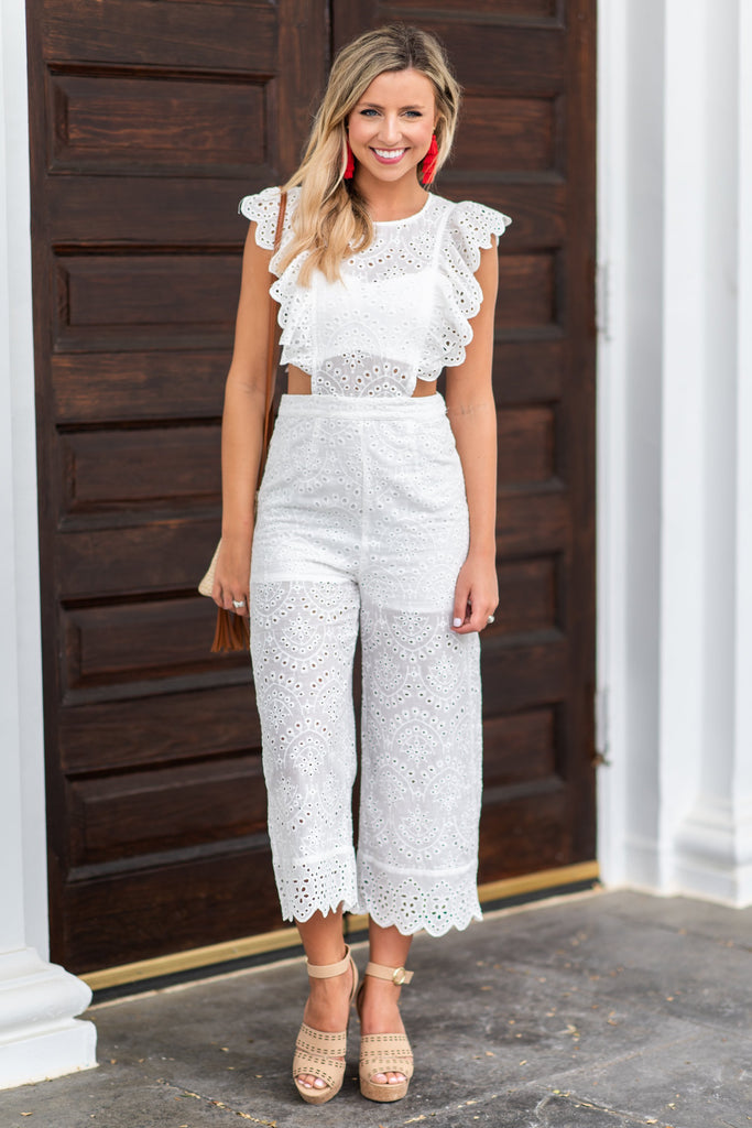 Chic In The Sun Jumpsuit, Off White