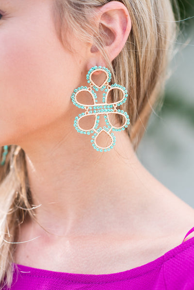 To Infinity Earrings, Turquoise