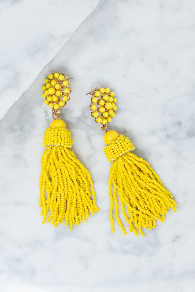 Darling Details Earrings, Yellow