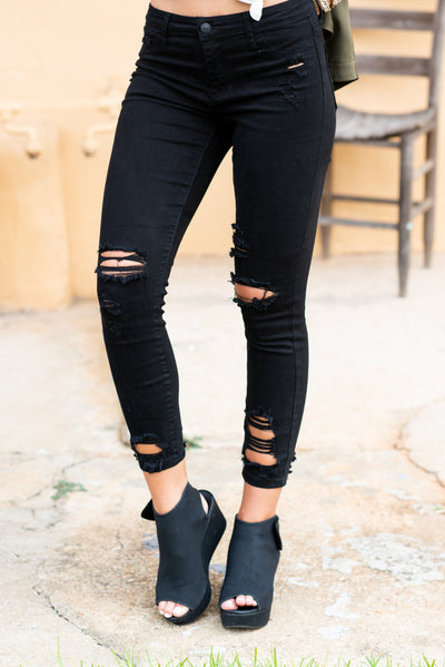 All About Tonight Skinny Jeans, Black