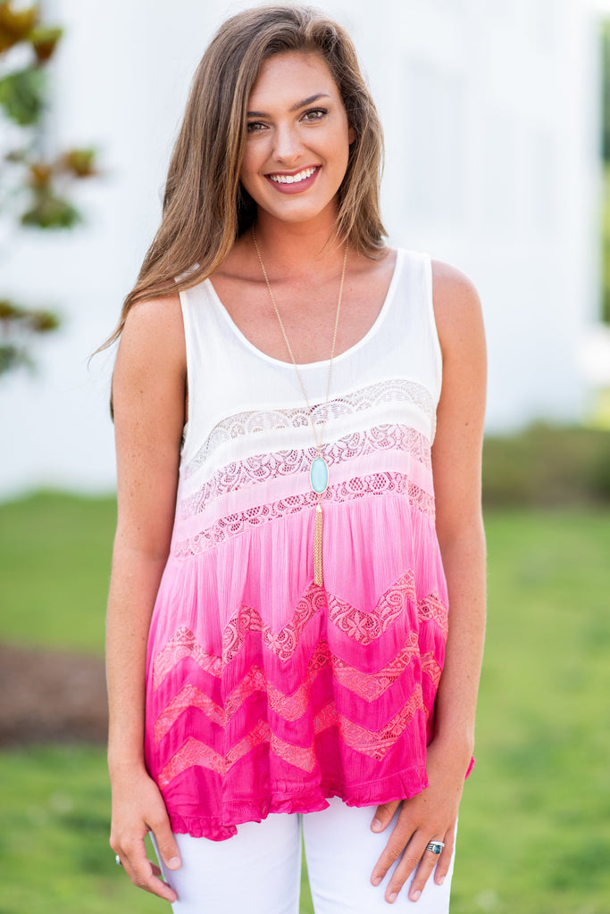 Detailed Dreams Tank, Pink