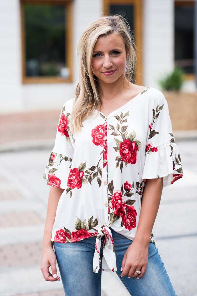 Just A Girl Top, Ivory