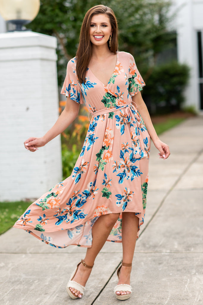 Faith In Flowers Maxi Dress, Blush