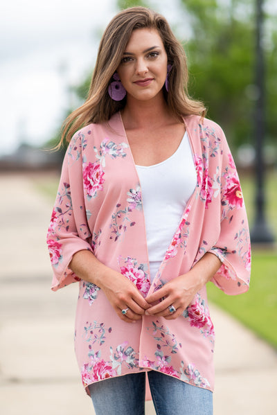 Can't Let You Go Kimono, Pink