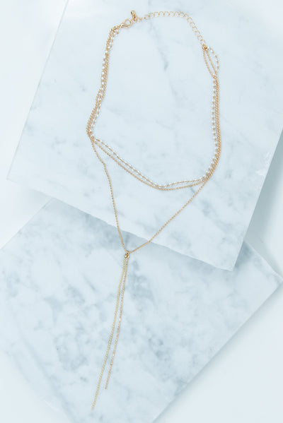 Anything Goes Necklace, White-Gold